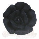 Medium Royal Icing Roses - Black