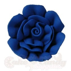 Medium Royal Icing Roses - Royal blue LARGE