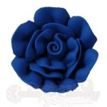 Medium Royal Icing Roses - Royal blue