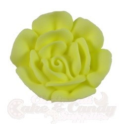 Large Royal Icing Roses - Yellow