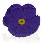 Royal Icing Pansies - Purple