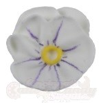 Royal Icing Pansies - White