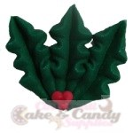 Large Royal Icing Holly w/Berries