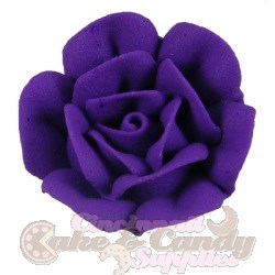 Large Royal Icing Roses - Purple LARGE