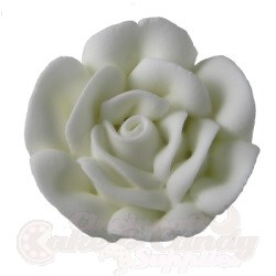 Small Royal Icing Roses - White LARGE