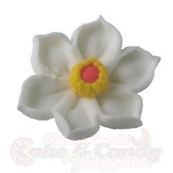 Royal Icing Daffodils - White/Yellow LARGE