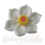 Royal Icing Daffodils - White/Yellow