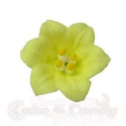 Royal Icing Lilies - Yellow LARGE