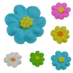 Royal Icing Mini Daisies - Assorted Colors