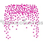 Cookie Countess Stencil - Falling Round Confetti