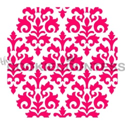 Cookie Countess Stencil - Damask LARGE