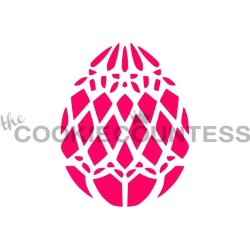 Cookie Countess Stencil - Easter Egg Diamonds_LARGE