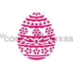 Cookie Countess Stencil - Easter Egg Flowers THUMBNAIL