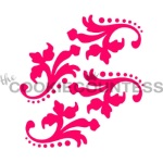 Cookie Countess Stencil - Dotted Damask