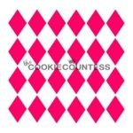 Cookie Countess Stencil - Harlequin