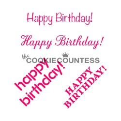 Cookie Countess Stencil - Happy Birthday LARGE