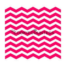 Cookie Countess Stencil - Narrow Chevron LARGE
