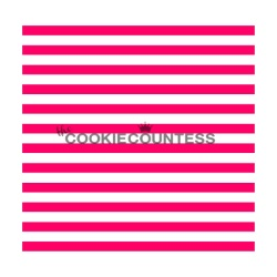 Cookie Countess Stencil - Narrow Stripes LARGE