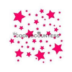 Cookie Countess Stencil - Night Sky LARGE