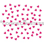 Cookie Countess Stencil - Scattered Hearts THUMBNAIL