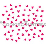 Cookie Countess Stencil - Scattered Hearts