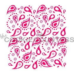Cookie Countess Stencil - Mini Paisley LARGE