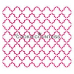 Cookie Countess Stencil - Small Quatrefoil