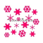 Cookie Countess Stencil - Snowflakes