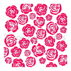 Cookie Countess Stencil - Rose Garden LARGE