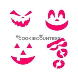 Cookie Countess Stencil - Pumpkin Carvings LARGE
