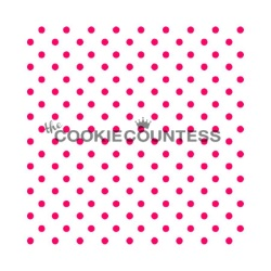 Cookie Countess Stencil -Tiny Dots LARGE