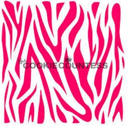 Cookie Countess Stencil - Zebra LARGE
