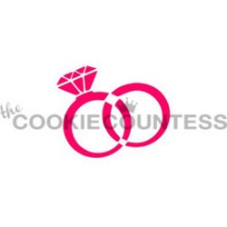 Cookie Countess Stencil - Wedding Rings LARGE