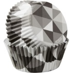 Wilton Standard Baking Cups - Black & White Geometric