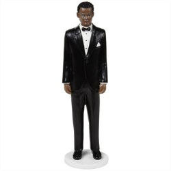 Wilton Wedding Cake Topper Figure - Classic Groom With Dark Curly Hair