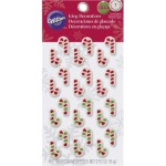 Wilton Mini Candy Cane Icing Decorations