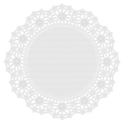 "Wilton 10"" Round Greaseproof White Doilies LARGE"