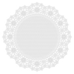 "Wilton 10"" Round Greaseproof White Doilies"