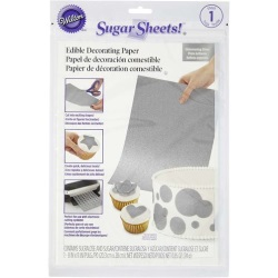 Wilton Sugar Sheets! Edible Decorating Paper - Shimmering Silver LARGE