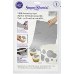 Wilton Sugar Sheets! Edible Decorating Paper - Shimmering Silver THUMBNAIL
