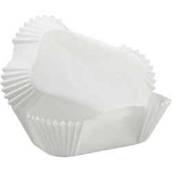 Wilton Petite Loaf Baking Cups - White LARGE