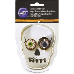 Halloween Skull Cookie Cutter Set