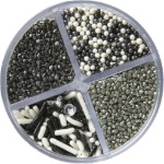 Wilton 4-Cell Pearlized Silver Sprinkles