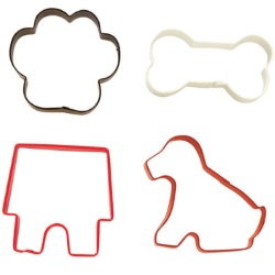Wilton 4-Piece Pet Cookie Cutter Set LARGE