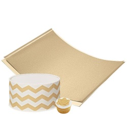 Wilton Sugar Sheets! Edible Decorating Paper - Shimmering Gold LARGE