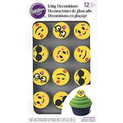 Wilton Emoji Icing Decorations LARGE