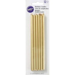Wilton Tall Gold Candles