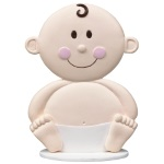 Baby Face Cake Topper THUMBNAIL