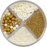 Wilton 4-Cell Pearlized Gold Sprinkles