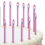 Wilton Color Flame Birthday Candles - Pink THUMBNAIL